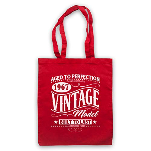 My Bag amp; Year Date Birth Born Vintage Icon Art Red Model In 1967 Clothing Tote OSEgOrvTwq