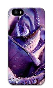 Lilyshouse Purple Rose Iphone 5 5S Hard Protective 3D Cover Case