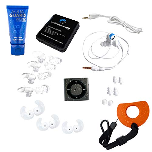 Underwater Audio 100% Waterproofing Compatible with iPod Shuffle, Swimbuds Sport Headphones, AquaGuard, and iFloatie (Space ()
