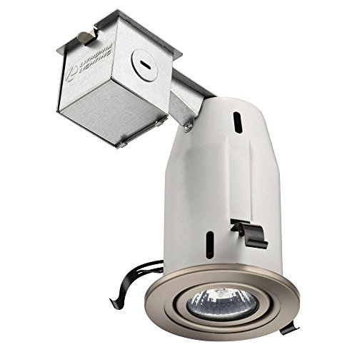 Lithonia Lighting LK3GBN M6 3 Inch Gimbal Kit with Halogen Lamp Included in Nickel (Kit Gimbal)