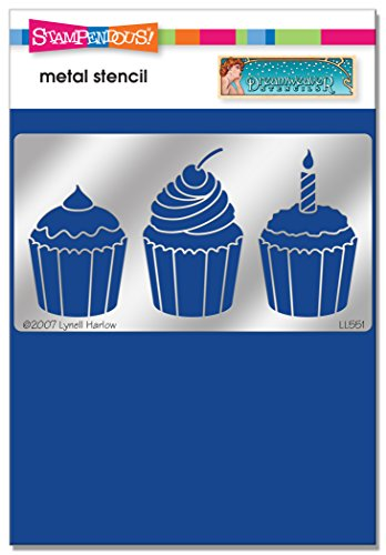 Stampendous New Wood - Stampendous DWLL551 Dreamweaver Cupcakes Metal Stencil