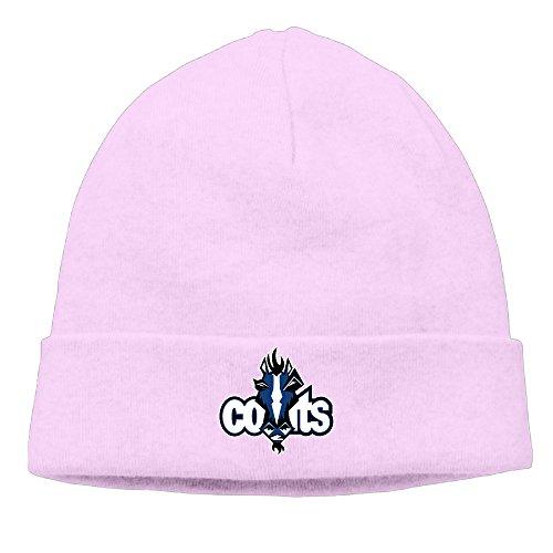 ElishaJ Unisex Indianapolis Sport Football Logo Beanie Cap Hat Ski Hat Cap Skull Cap Pink