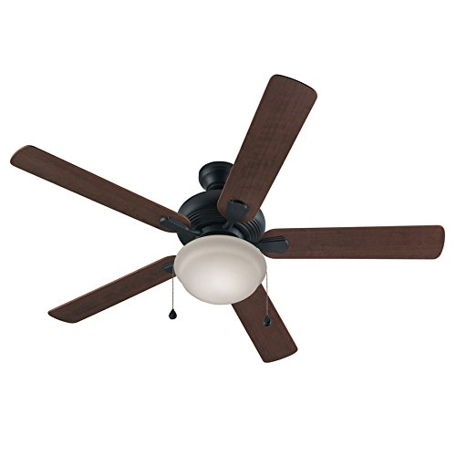 Harbor Breeze Caratuk River 52-in Bronze Downrod or Flush Mount Indoor Ceiling Fan with Light Kit