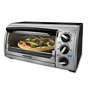 Amazon Com Black Amp Decker Tro480bs 4 Slice Toaster Oven