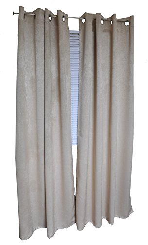 (Easy Care Fabrics Faux Suede Grommet Blackout Curtain/Panel, 51