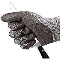Cut Resistant Gloves Level 5 Protection Food Grade EN388 Certified Safety Gloves for Outdoor Fishing Gardening etc