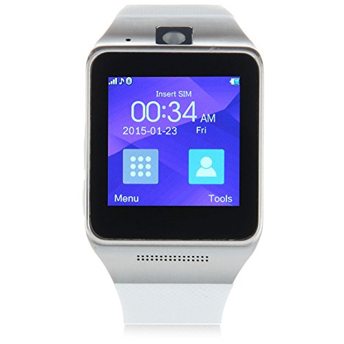 Padgene Bluetooth V3.0 SmartWatch for Samsung S3 / S4 / S5 / Note 2 / Note 3 / Note 4, HTC one M8 / M9, Sony and Other Android Smartphones, White