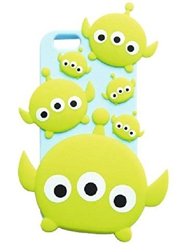 iPhone 6 Plus Case, Maxbomi - 3D Cute Cartoon T Story Little Aliens Soft Silicone Rubber Protective Skin Protector Back Case Cover for iPhone 6 Plus (5.5 inch)