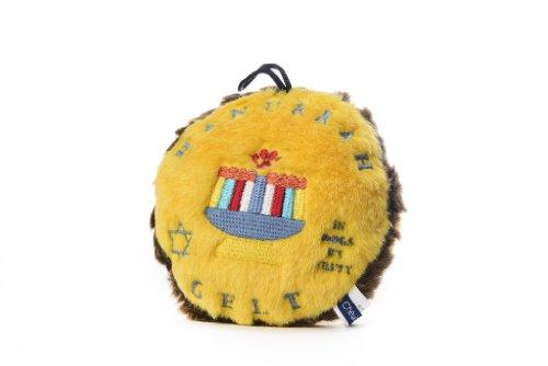 Copa Judaica Chewish Treat 5.5 by 5.5-Inch Hannukkah Gelt Squeaker Plush Dog Toy, Medium, (Chewish Plush)