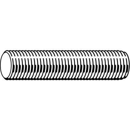 1-1/4''-12 x 1239; Zinc Plated Low Carbon Steel Threaded Rod by Materro