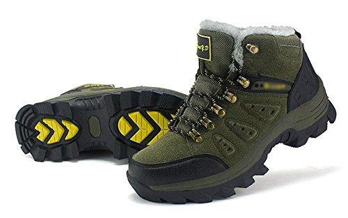 Los zapatos de senderismo al aire libre para hombres llevan antideslizante y cachemira c¨¢lido 45