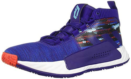 adidas Men's Dame 5 Basketball Shoe, Purple/Collegiate Royal/White, 7 M US