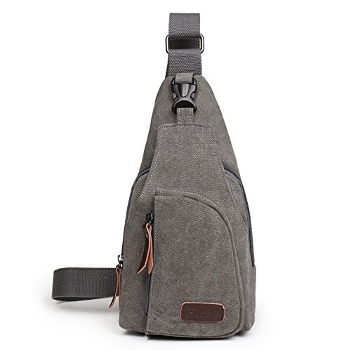 OuterStar Casual Canvas Sling Backpack Chest Bag for Men Woman