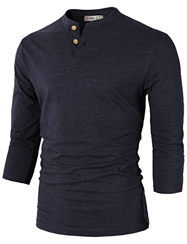 H2H Casual Henley T shirt 4Sleeves