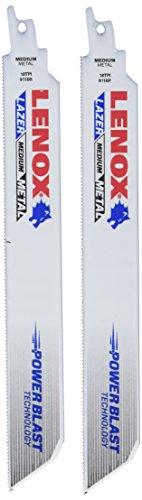 LENOX Tools LAZER Metal Cutting Reciprocating Saw Blade, Bi-Metal, 9-inch, 18 TPI, 2/PK