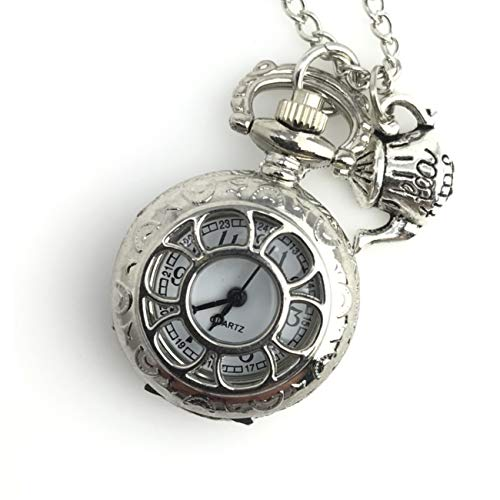 Alice in Wonderland Tea Party Steampunk Pocket Watch Necklace Costume Accessory,Party Supplies -