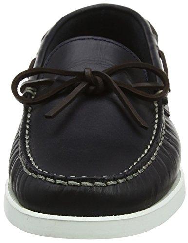 Hackett London Lace Veg Docksider, Zapatillas de Entrenamiento para Hombre Azul (Navy)