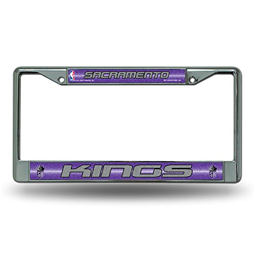 NBA Sacramento Kings Bling Chrome License Plate Frame with Glitter Accent (Goods Home Sacramento)