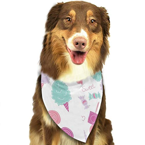 Pet Scarf Dog Bandana Bibs Triangle Head Scarfs Sweet Candy Accessories for Cats Baby Puppy ()