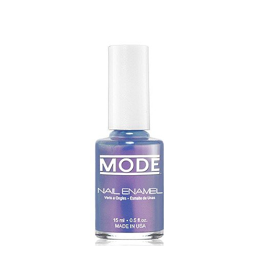 MODE Nail Enamel .50 fl oz. - Long Wear, High Gloss, Chip Resistant Cruelty-Free/Vegan Salon Nail Polish Formula - MADE IN THE BEAUTIFUL USA (Duochrome Smokey Purple-Red Satin Shift - Shade #128) (Nail Enamel Resistant)