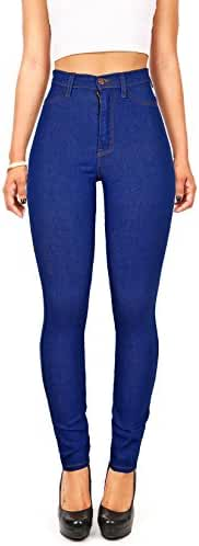 Vibrant Women's Classic High Waist Denim Skinny Jeans