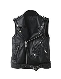 YoungSoul Women's Faux Leather Sleeveless Jacket Motorcycle Vest