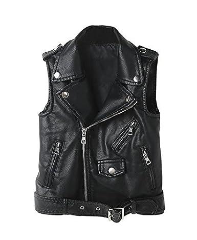 LOKTARC Women's Faux Leather Sleeveless Jacket Motorcycle Vest