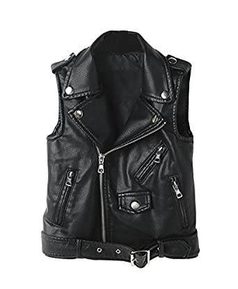 LOKTARC Womens Faux Leather Sleeveless Jacket Motorcycle Vest at Amazon Womens Coats Shop