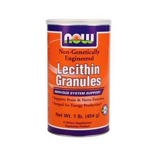 NOW Foods granules de lécithine, NGE, 1 Pound (Pack de 2)