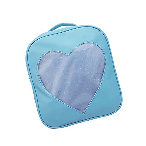 ShiningLove Summer Candy Transparent Love Heart Backpack School Shoulder Bags Teenager Girls Book Bag by ShiningLove (Image #8)