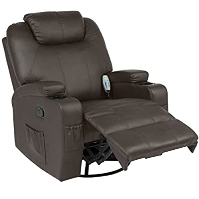 Best Choice Products Massage Recliner Sofa Chair Heated with Control Ergonomic Executive Lounge