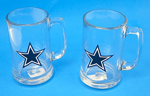 Dallas Cowboys Beer (Dallas Cowboys Two jumbo glass beer Steins 13 oz.)