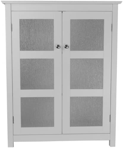 Elegant Home Fashions Dixie Bathroom Cabinet, White