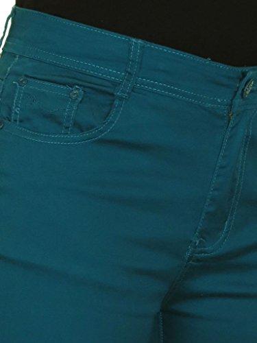 Jeans Ice Capri avec Stretch Canard Cropped Vert Femme drz6qr