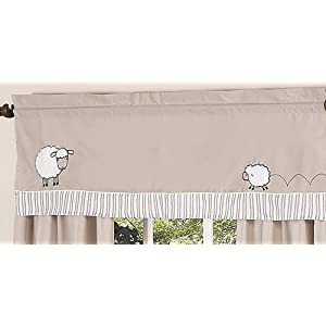 Sweet Jojo Designs 11-Piece Little Lamb, Sheep Animal Farm Baby Boy Girl Unisex Bedding Crib Set Without Bumper