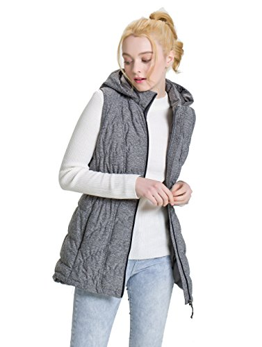 XPOSURZONE Down Puffer Vest Women Stretch Knit Vest with