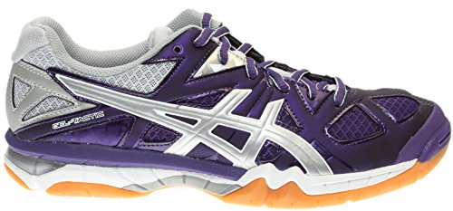 ASICS Women's Gel Tactic Volleyball Shoe, Purple/Silver/White, 9.5 M US by ASICS (Image #1)
