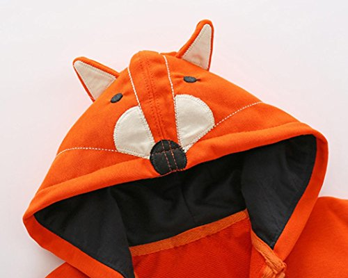 Baby Boy Girls Coat,FUNIC Toddler Kids Baby Boy Girls Cartoon Animal Hooded Zipper Tops Coat