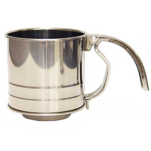 Hamilton Beach Stainless Steel 1 Cup Flour Sifter with Squeeze - Sifter Flour 1 Cup