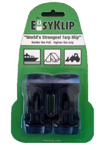EasyKlip Midi 4101 220lbs Tarp Clip, Black, 4-Count (Pulls And Canada Knobs)