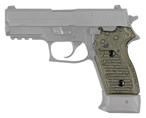 Hogue 24138 Sig P245 P220C Grip, Pirahna G10 G-Mascus Green