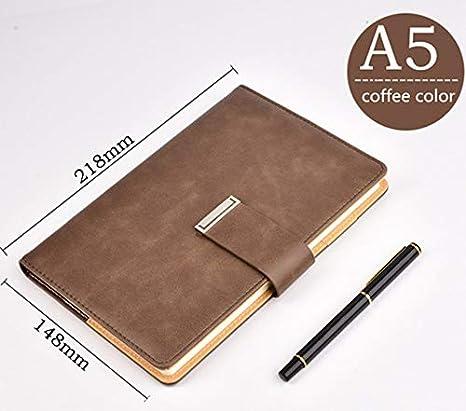 Retro Cuero Grueso Cuaderno Hebilla Libreta Oficina Negocio ...