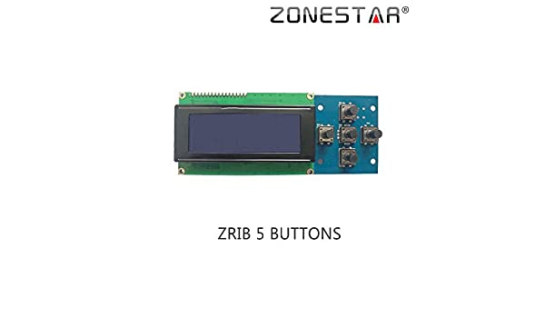 Amazon.com: GIMAX Zonestar 2004 LCD Display with 5 Buttons ...