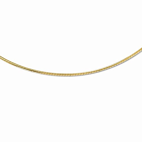 Leslies 14K Yellow Gold 2mm Round Omega Necklace 18 Inches