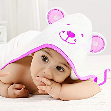 Bamboo Baby Towel with Hood Extra Soft Stylish for Boy or Girl 2 Pack
