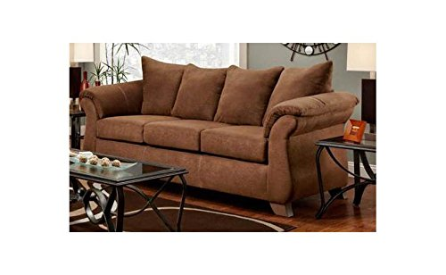 Chelsea Home Furniture Payton Queen Innerspring Sleeper, Aruba Chocolate For Sale