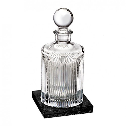 Waterford Aras Decanter Round 32 Oz With Marble Coaster ()