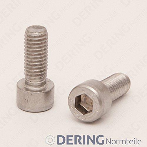 | Zylinderschrauben DERING Zylinderschrauben M3x8 mit Innensechskant DIN 912 Edelstahl A2 10 St/ück Zylinderkopf Schrauben rostfrei