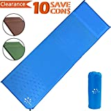 Sleeping Pad, Fruiteam Self Inflating Camping Pad Mat with Attached Pillow, Air Mattress Sleeping Pad for Car Camping Backpacking