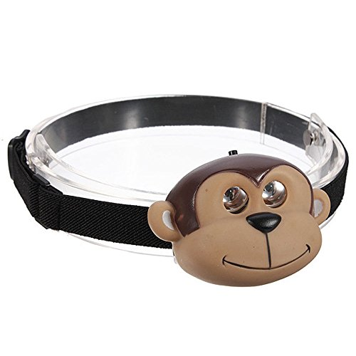 SODIAL(R) Child's Children Kid Novelty Animal Flash LED Head Light Torch Monkey ()
